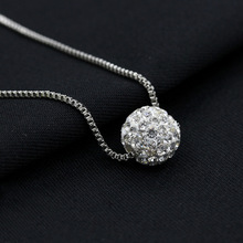 2019 New POPULAR Crystal Ball Pearl Necklace Female Clavicle Chain Foreign Trade Wholesale Hot