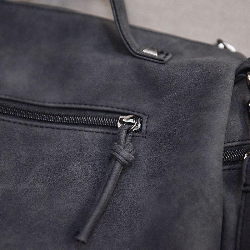 2017 chegam novas rivet bolsa Women Shoulder Bag Color : Black/gray/green