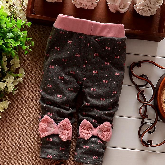 (1piece /lot) 100% cotton 2017 new lace leggings for baby girl clothes