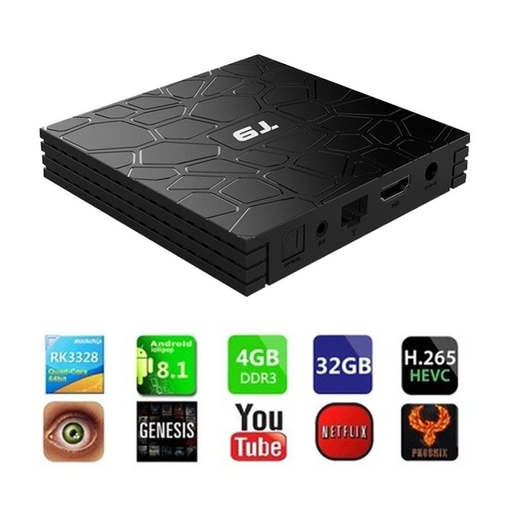 Buyincoins intégré Wifi haute Performance GPU haute définition lecteur Android 8.1 TV Box 4 GB RAM 32 GB ROM Wifi 4 K Media #292907