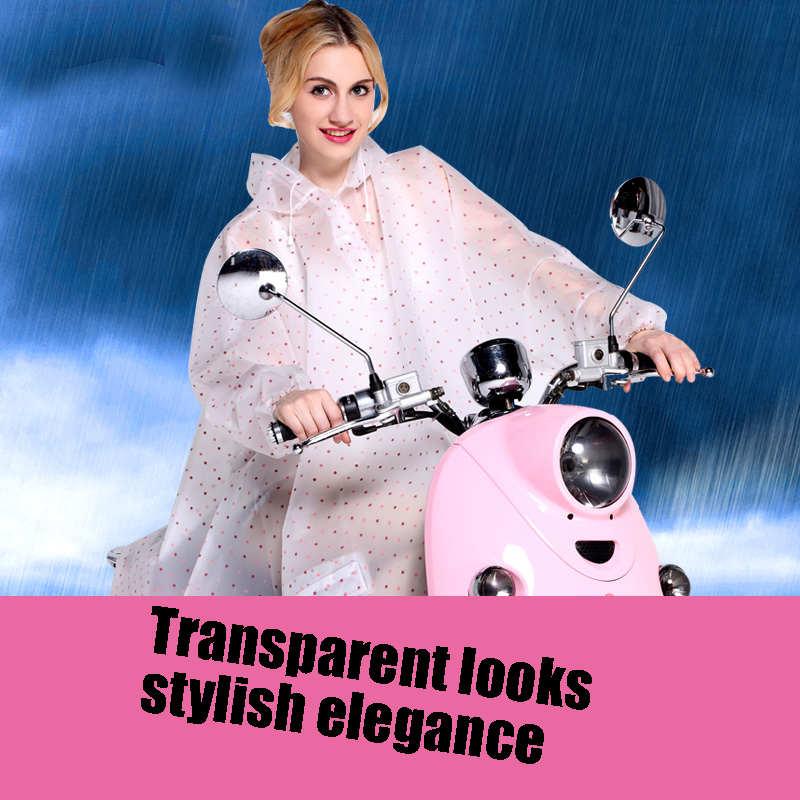 Hooded Raincoat Women Motorcycle Waterproof Men Long Regenponcho Camping Eva Transparent Raincoat Rain Poncho 0utdoor QQG363
