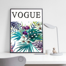 Watercolor Flower Green Plants Nordic Posters And Prints Wall Art Canvas Modern Painting Pictures For Living Room