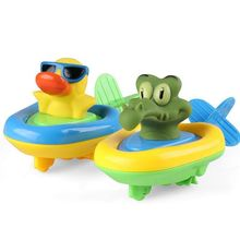 amphibian pull swim toy set bath duck crocodile animal fun (set of 2)