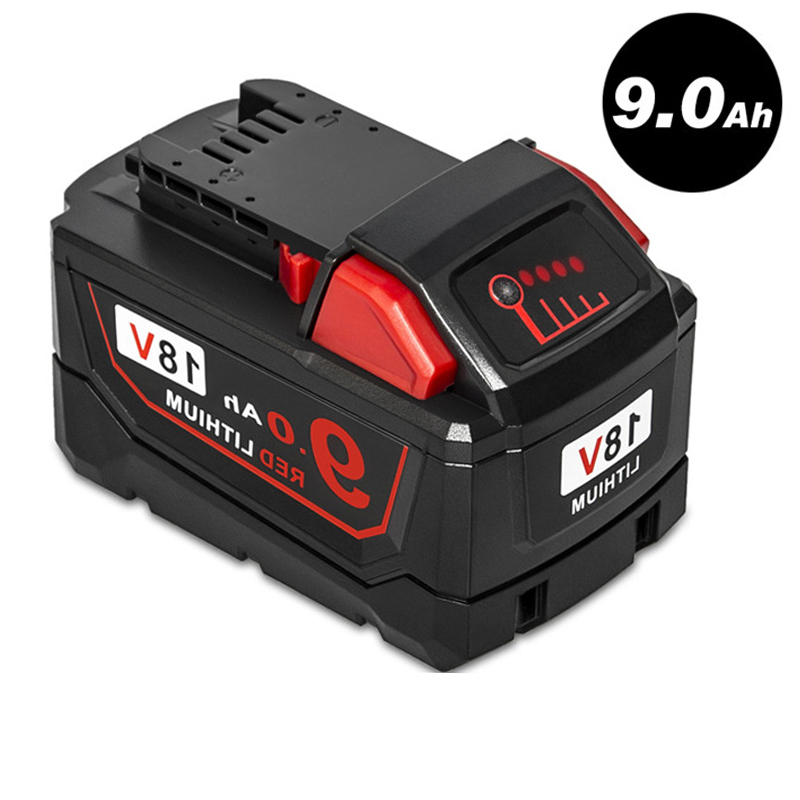 AIMIHUO Tool Battery 18V 9.0Ah Red Lithium High Demand Rechargeable Battery For Milwaukee 48-11-1890 M18 Replacement Tool Batte replacement power tooll battery for milwaukee 18 volt 4 0ah 48 11 1828 m18 xc red lithium high capacity battery
