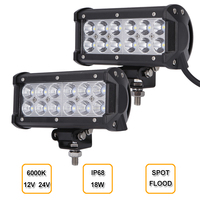 2pcs 7 Inch 36W LED Work Light Lamp Bar DRL For Motorcycle Tractor Boat Off Road