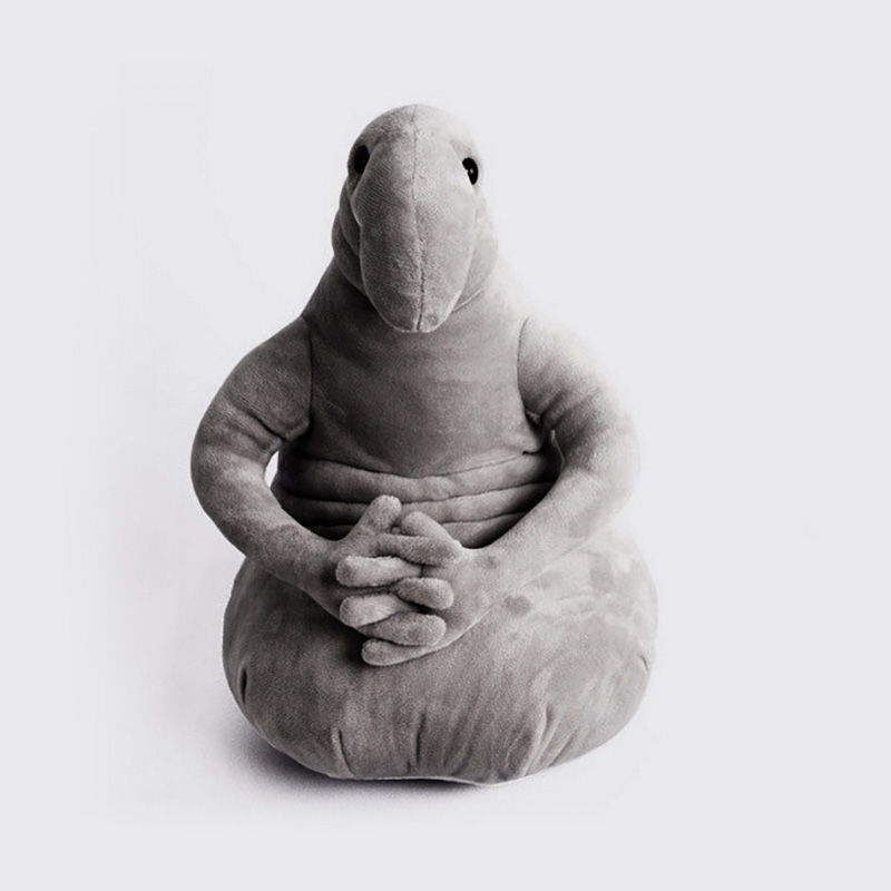 Tubby Gray Blob Zhdun Soft Plush Doll Toy Zhdun Memes Homunculus Loxodontus