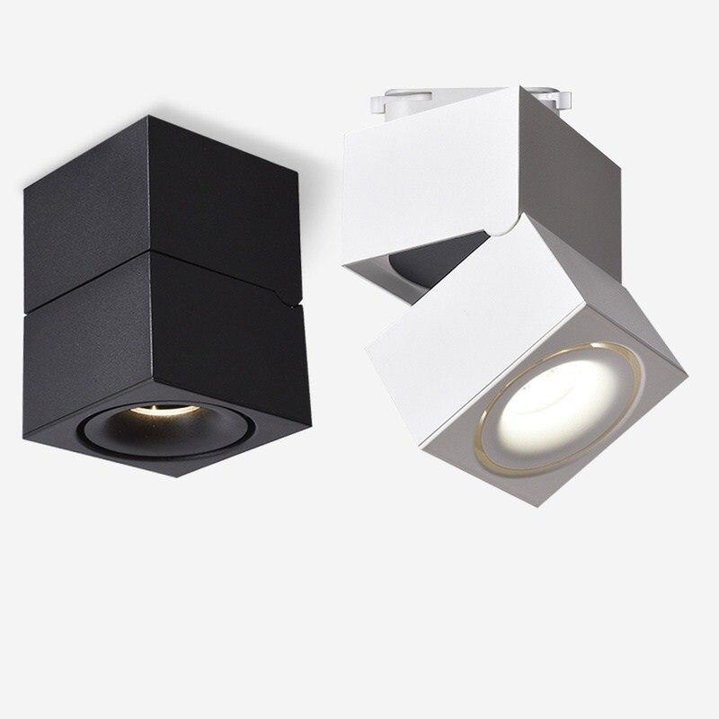 Plafonniers modernes de LED d'épi plafonniers montés par Surface d'éclairage pliable et rotatif de tache pour le salon de vitrine
