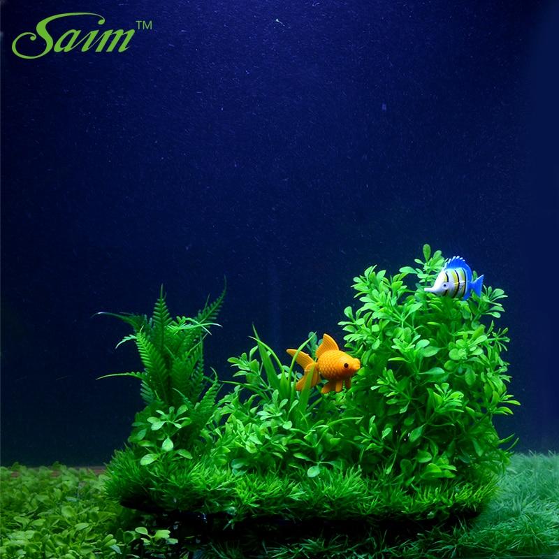 saim aquarium artificial plant decoration plastic plants 7 inch tall