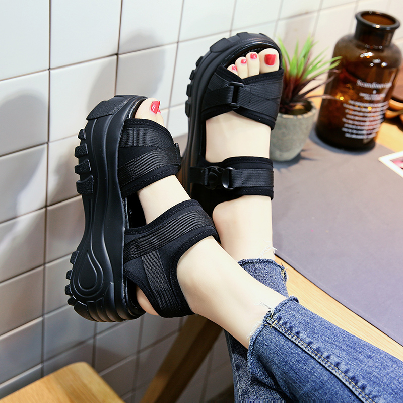 wedges shoes for women platform shoes woman sandals sandali donna sandalias mujer 2018 black platform sandals women summer shoes
