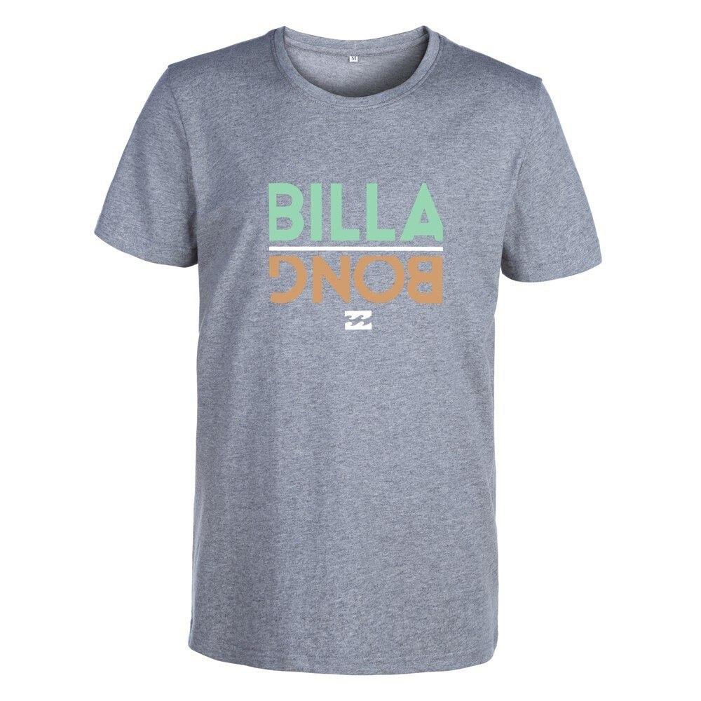 2019 Men Summer 100% Cotton T Shirt Billabong Tops New O Neck Short Sleeve Tees Mens Fashion Fitness Hot Style T-Shirt