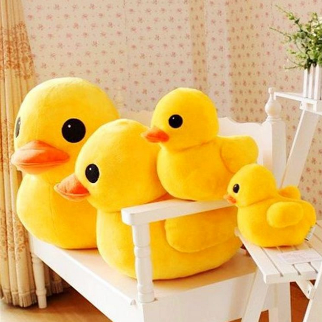 Hot Sale 1pcs 20cm New Arrival Stuffed Dolls Rubber Duck Hongkong Big Yellow Duck Plush Toys Gifts For Kids Toys 065