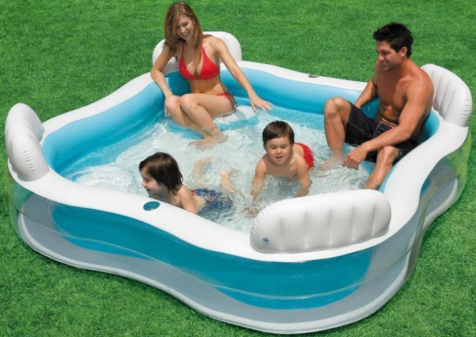 Intex Piscina Piscine Gonflable Family Bathtub Giant Inflatable Swimming Pool Filter Kids Inflatable Swimming Pools For Adults commercial sea inflatable blue water slide with pool and arch for kids