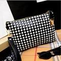 Casual Vintage Small Women Bags Leather Plaid Messenger Bag Retro Envelope Bag Handbag and Purse Sling Crossbody Shoulder Bag