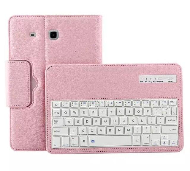 Лучший искусственная Кожа Флип Беспроводная Связь Bluetooth Крышка Аргументы за Клавиатуры Samsung Galaxy TAB E T560 T561 9.6 дюйма