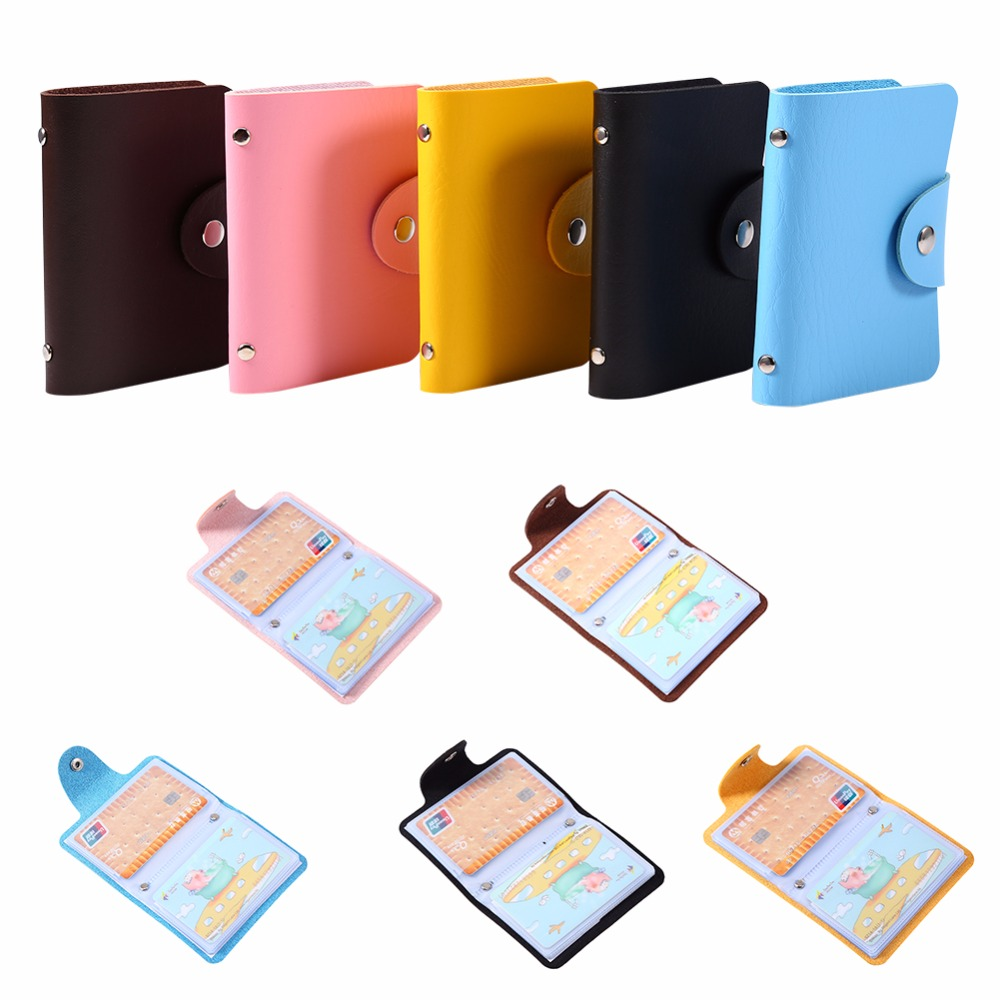 Aliexpress.com : Buy 1pc PU Leather ID Credit Business Card Holder ...