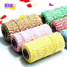 100 yards DIY color cotton ropes West point box double strands packaging decoration rope