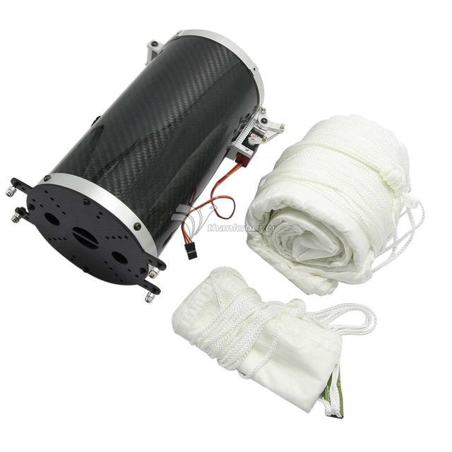 Booy 25 kg Fibra de Carbono Electrónico Paracaídas + Abridor Eyector para RC UAV Aviones