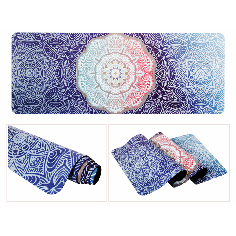eco friendly wholesale custom printed microfiber suede printed natural rubber yoga mats sale,natural travel suede yoga mats yawning tiger printed tapestry microfiber wall hanging