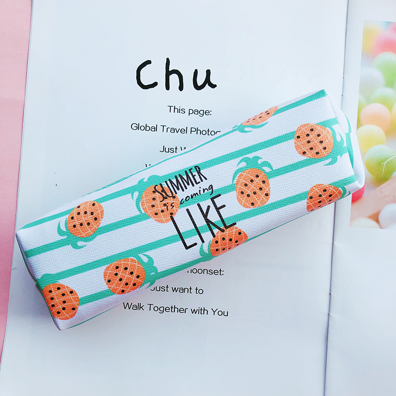 fruit pencil case Kawaii school supplies Creative estuche escolar trousse scolaire stylo pencilcase box