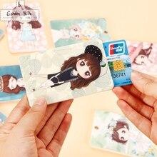 2016 cute little girl PVC Credit Card Holder Keyring Key Chain Sleeve Set Bus Card Case Bag Birthday Gifts PT0419