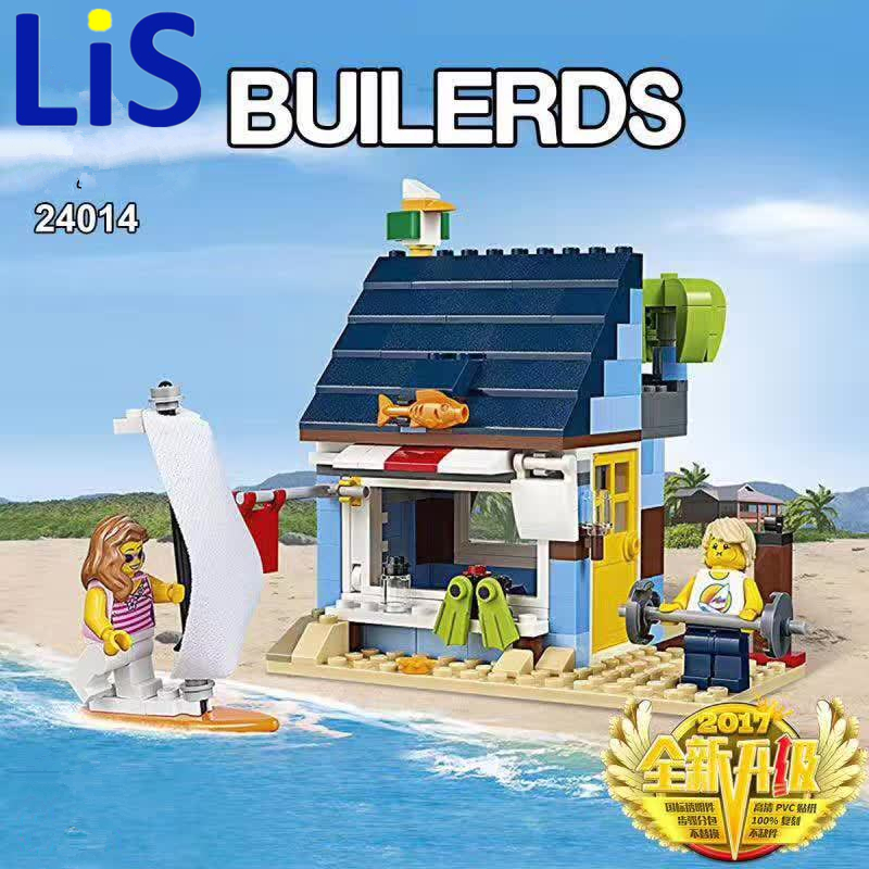 Lis LEPIN City Creator 3 in 1 Beachside Vacation Building Blocks Bricks Kids Model Toys For Children Compatible with lepin gift lepin 22001 pirate ship imperial warships model building block briks toys gift 1717pcs compatible legoed 10210