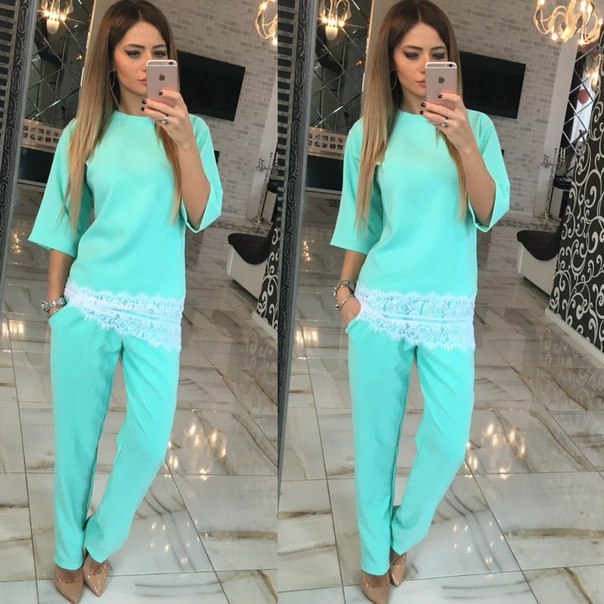 2016 new autumn fall winter fashion women's sexy slim lady solid leisure two pieces suits XL seven sleeve long pants casual suit