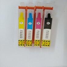 Vilaxh Empty Refillable ink cartridge replacement For HP 364 364XL Deskjet 3070A B209a B210A 5515 B010a B109a B110c Printer