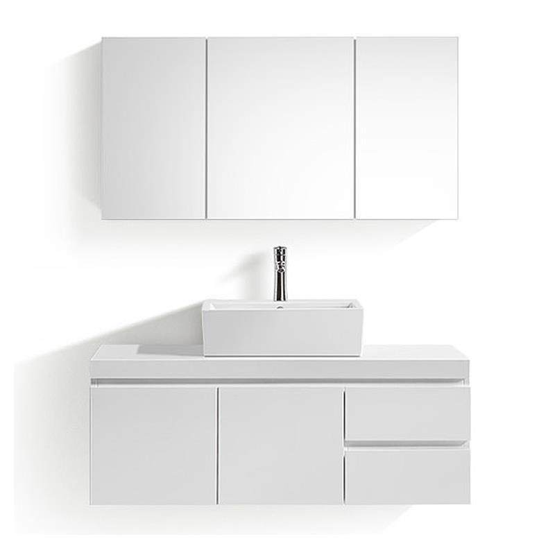 Online Shop Modern White Lacquer Wall-Mounted Bathroom Cabinets with ...
