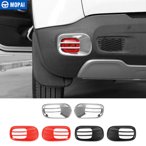 Image 1 - MOPAI luz antiniebla trasera de Metal para coche, cubierta decorativa para Jeep Renegade 2015, accesorios para Exterior, decoración para coche