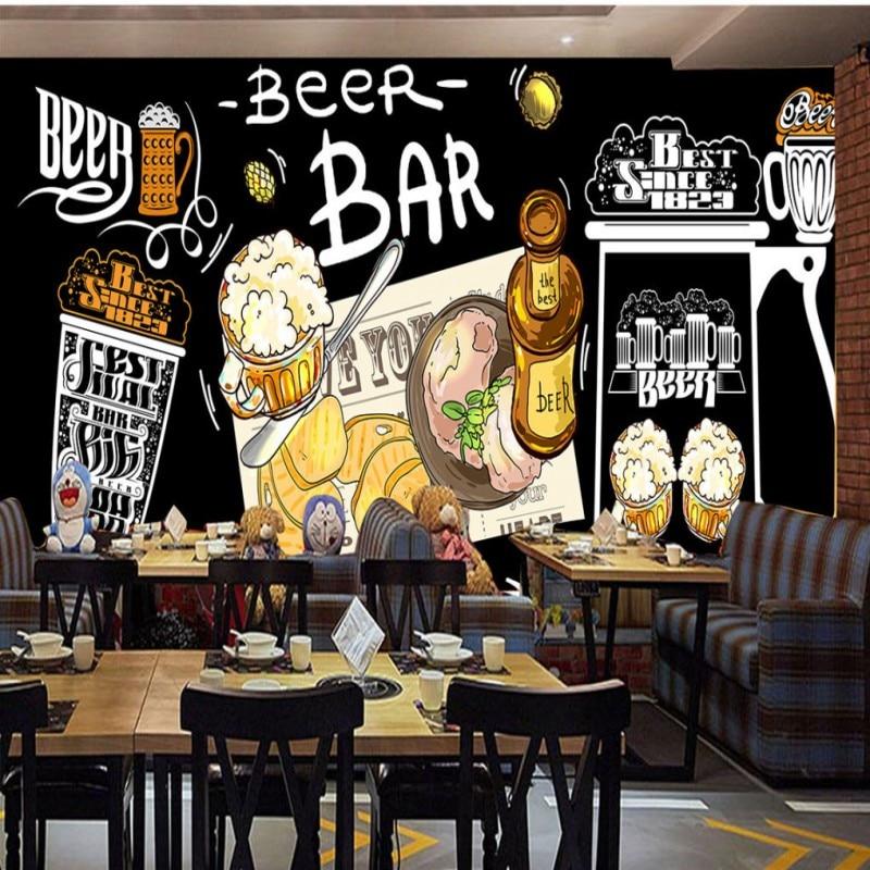 Blackboard Wallpaper Murals Food Wallpaper Murals Bistro: Custom 3d Wallpaper Custom Hand Painted Blackboard