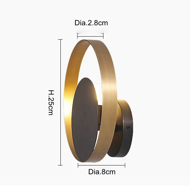 New classical all copper wall lamp golden with black lamp body corridor living room lighting Nrodic creative wall sconce light in LED Indoor Wall Lamps from Lights Lighting