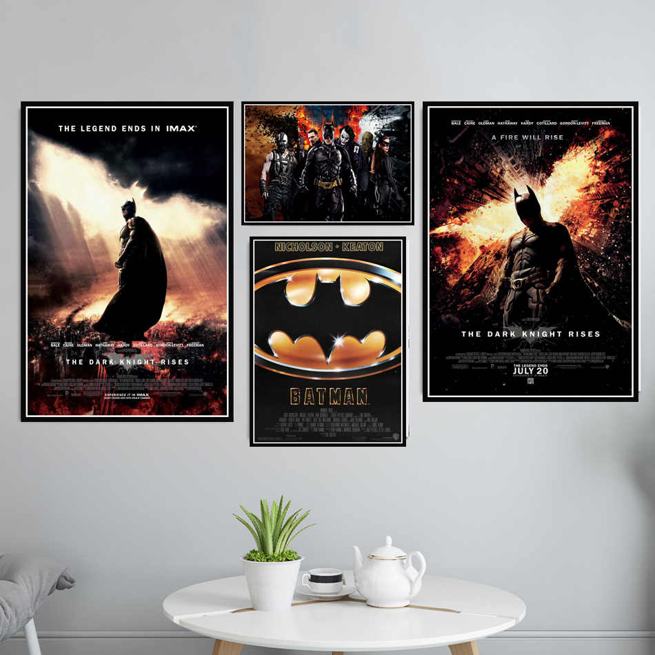 Batman Superhero DC Movie Film Joker Retro Vintage Poster And Prints Wall Art Canvas Wall Pictures For Living Room Home Decor