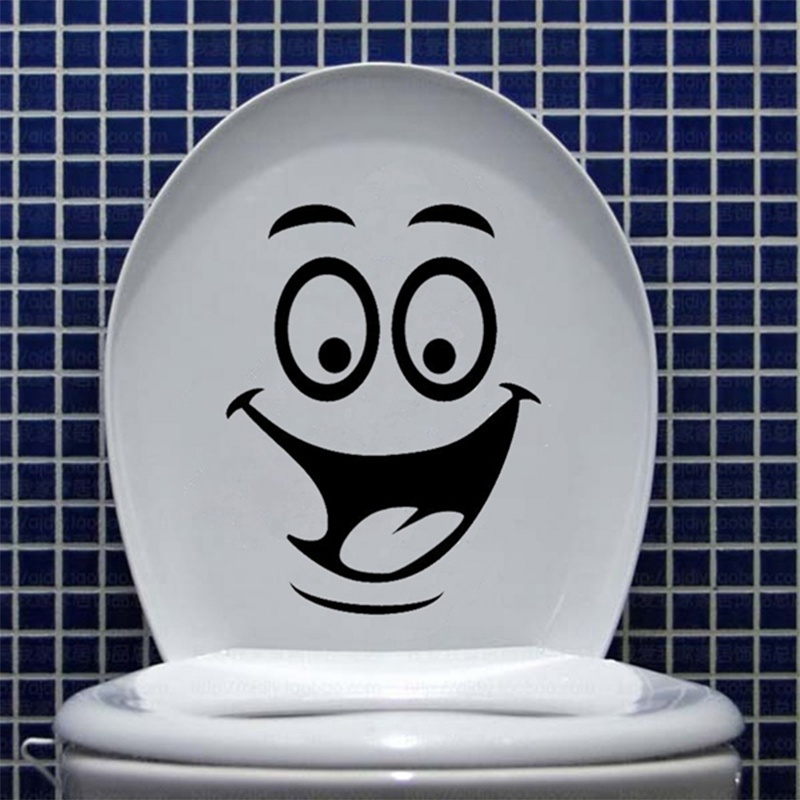 Buy 1pc smile face toilet stickers diy for Stickers murs deco