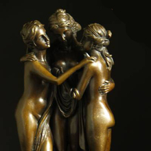 ATLIE BRONZES Christmas gifts goddess statues Graces/Kharites Sculptures Lost Wax Retro home decoration  Bronze Casting Statue