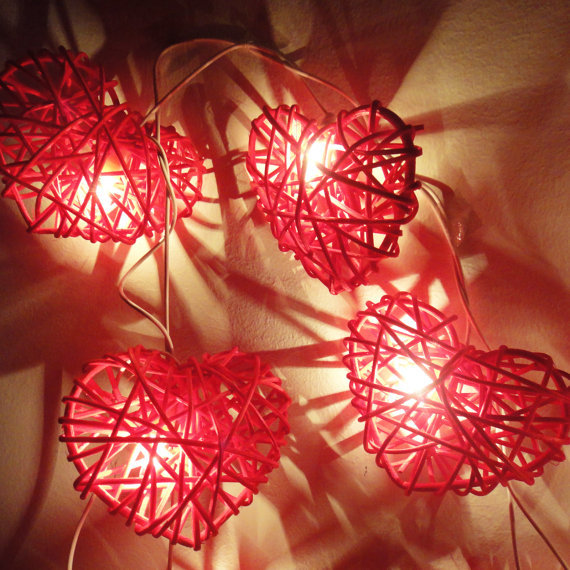 Red String Lights For Bedroom : Aliexpress.com : Buy Free Shipping!20 Red Heart Rattan Fairy Lights String Valentine Wall Floor ...