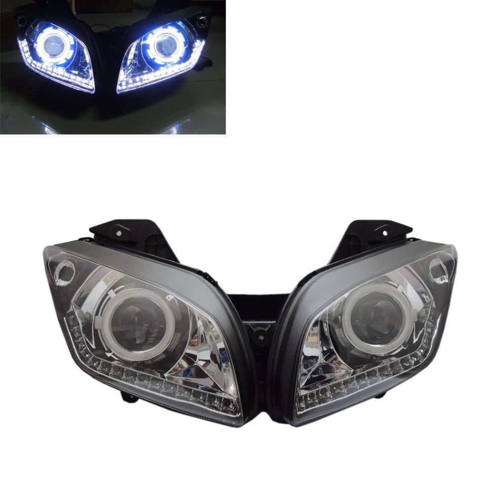 Kemimoto Hid Ccfl Angel Eye Projector Adaptive Model For Yamaha Yzf R15 2016 2012 2013 2014 2015 Headlight With Led Stripe On Alibaba Group
