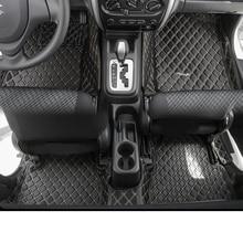 lsrtw2017 fiber leather car interior floor mat for Suzuki Jimny 2010 2011 2012 2013 2014 2015 2016 2017 2018 2019 accessories лонгслив printio атари