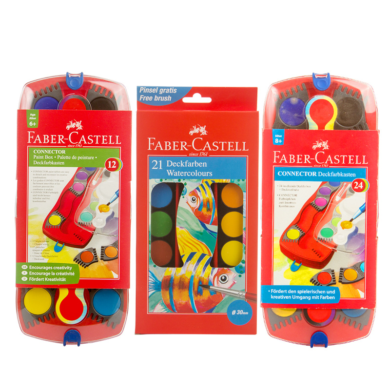 все цены на FABER CASTELL 24 colors can be stitched solid watercolor paint watercolor paint for beginners