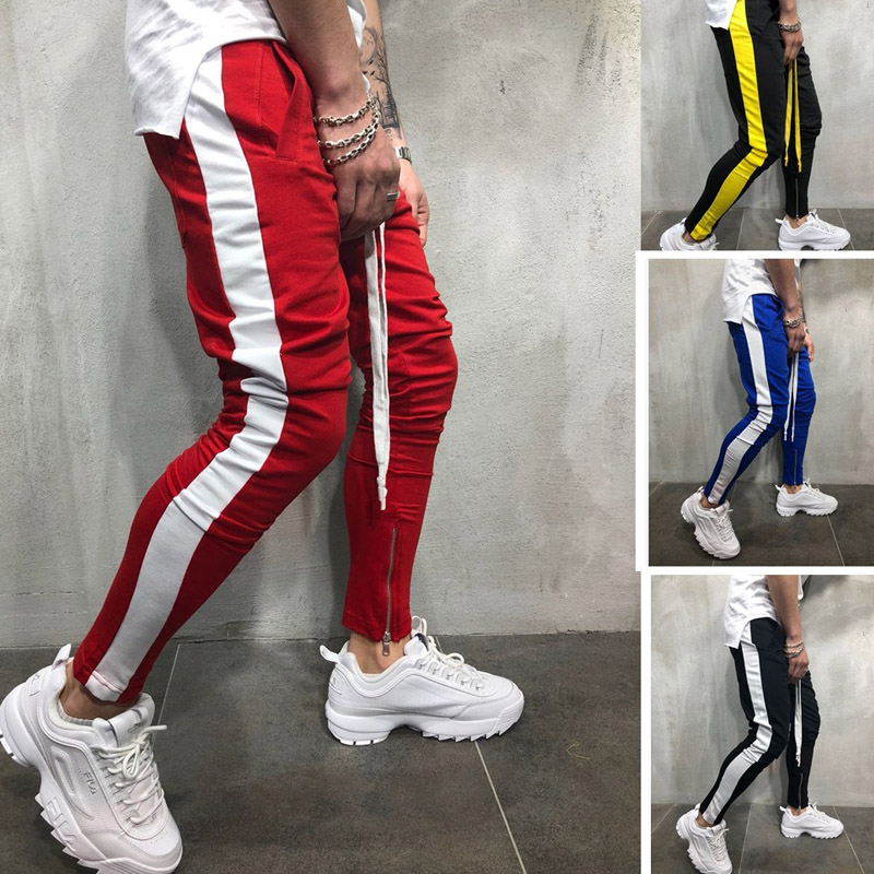2019 Fashion New Streetwear Sweatpants For Men Causal Sportswear Pants Black White Trendy Men's Hip Hop Sweatpants Trousers(China)