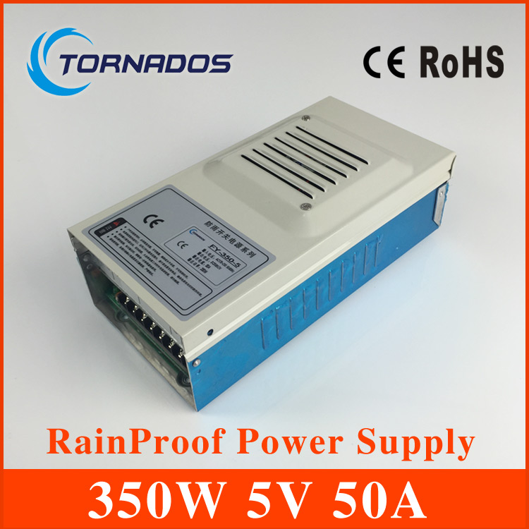 все цены на AC to DC single output  power supply 5v FY-350-5 rainproof type outdoor voltage regulator 5v smps онлайн