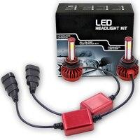 LOAUT 12V 24V LED 9006 HB4 Unique 4 Sides COB Auto Fog Lamps 9005 HB3 fonte Automobile 6000K 8000LM Car Accessories Headlights