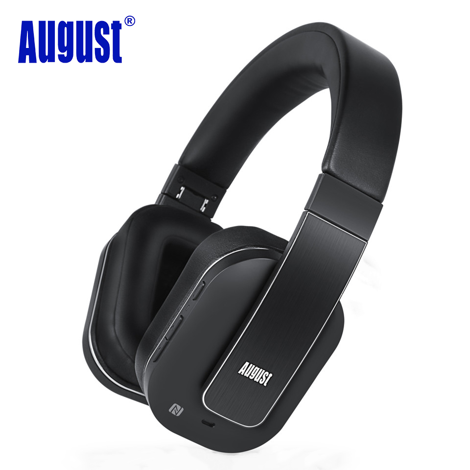 august ep750 aptx active noise cancelling wireless bluetooth headphones with microphone. Black Bedroom Furniture Sets. Home Design Ideas