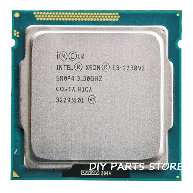 Intel Xeon Quad-Core Processor E3 1230V2  E3-1230 v2 3.3GHz 8MB LGA 1155  Severs CPU