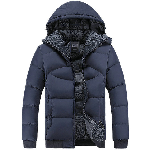 2017 New Hot Thick Warm Winter Coat Men Hood Solid Jacket Parka Men (Asian Size)