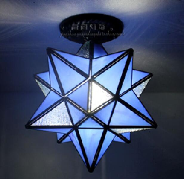 Tiffany creative glass Star ceiling lamps personality living room restaurant bar corridor entrance 1 head ceiling light DF58 creative personality resin lamps corridor restaurant cafe bar study monkey droplight of children room light