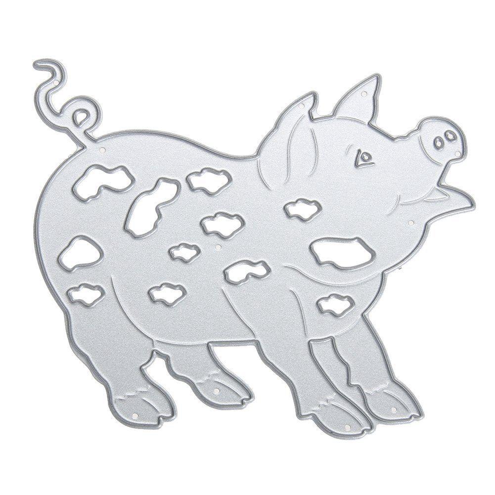 YHYS matrices de coupe découpées matrices modèle de pochoir moule pour Album à faire soi-même Album papier carte (cochon)