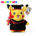 28CM New Pokemon Cute Pikachu Cosplay Graduate Plush Toy Soft Stuffed Animal Toys Doll Gift for Children Birthday Gift 2016 Hot
