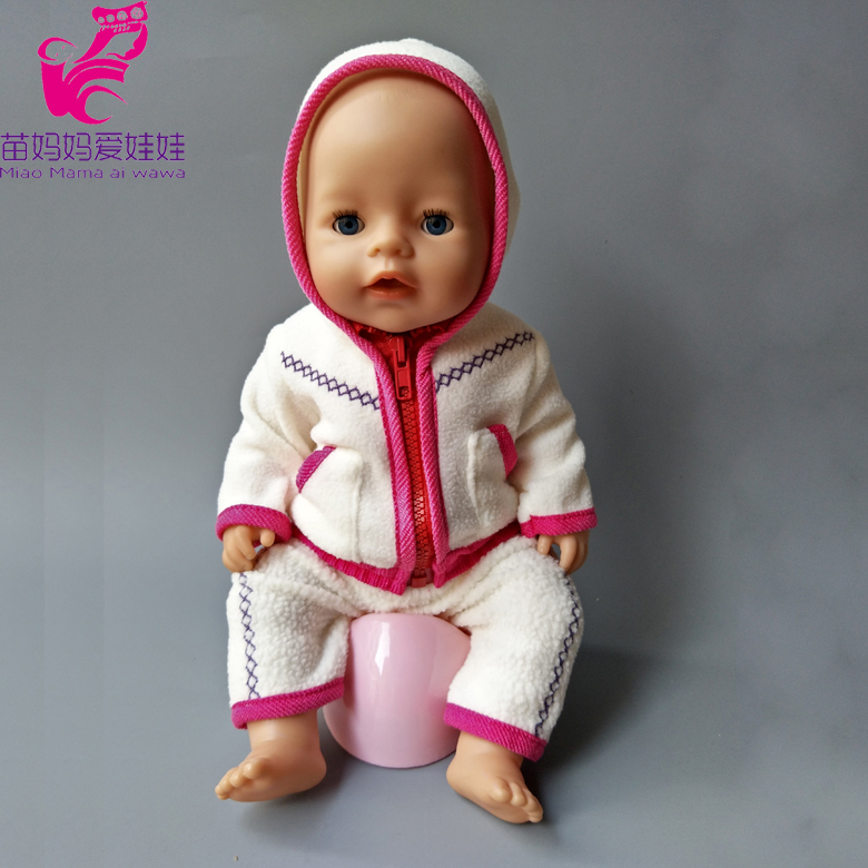 Baby Born Doll Clothes Fit 43cm Zapf Baby Born Doll Cute Jackets and Jumpers Rompers  for 18 inch Doll Clothes Children Gifts rose christmas gift 18 inch american girl doll swim clothes dress also fit for 43cm baby born zapf dolls