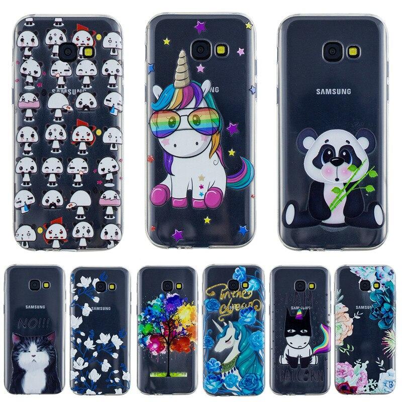 100 pièces souple TPU pour Coque Samsung Galaxy A5 2017 housse A520 A520F peint dos de protection pour Funda Samsung A5 2017 étui