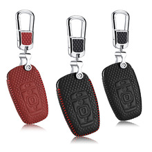 Leather Key Cover For lincoln MKZ MKC 2017 car holder Remote Control case G3 Free shipping